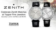 """Zenith Watches Event @ Topper In Burlingame, CA, December 4, 2015 - check it out on aBlogtoWatch.com """"We at Topper Fine Jewelers are very excited to host one of Zenith's watchmakers in-store on Friday afternoon, December 4th in Burlingame, California. It will provide a great opportunity to learn more about the famous El Primero movement, as their watchmaker performs assembly and disassembly of an El Primero caliber in the store..."""""""