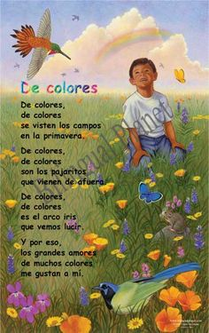 These posters are the highest quality and richest in culture of any Traditional Hispanic Nursery Rhymes on the market  Pre-laminated. CD and reproducible also available.