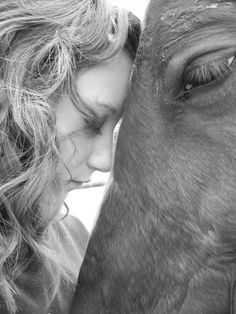 The bond between a horse and her girl. Fav photo of Tia and her horse