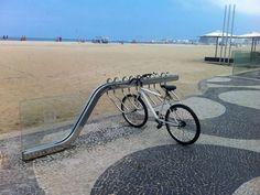 Bicicletário-praia de Copacabana