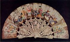 Vintage Fan: 18th Century Spanish skin mount, painted in the Chinese taste, with richly carved ivory sticks | Flickr - Photo Sharing!