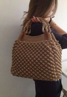 Bobble Stitch Handbag Crochet Pattern with Video Tutorial DIY Tutorial - Crochet Easy Casual Friday Handbag with Lining - Lined Purse Bag Bolsa Borsa This Pin was discovered by pra Discover thousands of images about Shynar Amanova Ravelry: Calypso Clutch Crochet Handbags, Crochet Purses, Crochet Bags, Knitting Patterns, Crochet Patterns, Bobble Stitch, Diy Handbag, Fabric Bags, Knitted Bags