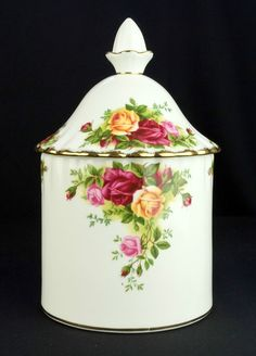 Royal Albert Old Country Roses Storage Jar 1st Quality VGC