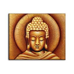 Sun Buddha Golden - Painting LARGE