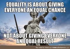 The difference between equality and equity in simpler terms. Equality us where everyone has the same chance to succeed, whereas equity has to be forced upon the individual to spread resources evenly. Equity is bad Quotable Quotes, Wisdom Quotes, Me Quotes, Great Quotes, Inspirational Quotes, Political Quotes, Republican Quotes, Political Comics, Thoughts