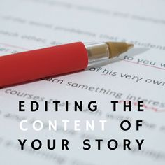 How do I edit the content of my story? Three tips and tricks to make editing the content of your story faster and easier. Your Story, Writing Tips, Memoirs, Content, Life, Writing Prompts