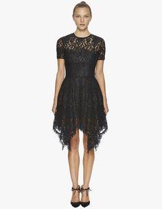 Halo Hanky Mini Dress - Black