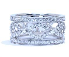 Wide micropave and french-set diamond band by Ascot Diamonds Jewelry Rings, Jewlery, Jewelry Box, Jewelry Accessories, Fine Jewelry, Wedding Anniversary Rings, Diamond Anniversary, 20th Anniversary, Diamond Bands