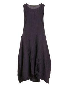 Ballonkleid in eleganter Knitteroptik in Dunkel-Lila designed von Champagne in der Kategorie Kleider bei navabi.de