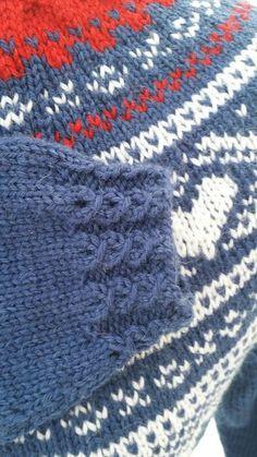 Mariusgenser med hjerter, Marius-sweater with hearts and false braiding. Baby Knitting, Baby Knits, Crochet, Sweaters, Inspiration, Fashion, Tejidos, Needlepoint, Crochet Hooks