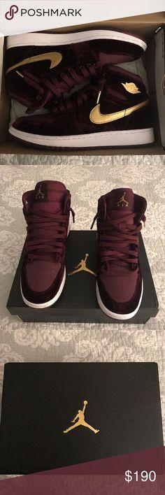 Nike Air Jordan1s Velvet Maroons NIBSize-6.5Y NIB Nike Air Jordan 1s Velvet  Night 635493fa1cf6