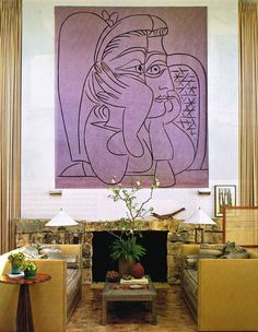 """Picasso?  Incredible in the """"caramel"""" room palette"""