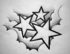Descending Stars Tattoo Design