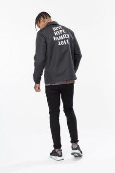c3c87e4da HYPE BLACK JH FAMILY MEN'S COACH JACKET Last Chance, Swag Outfits, Adidas  Jacket,