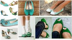 zapatos verdeagua