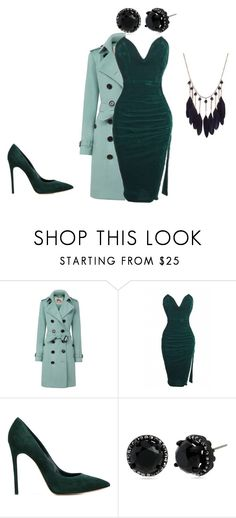 Cold Winter Night by jazzy21553 on Polyvore featuring Burberry, Casadei and Betsey Johnson