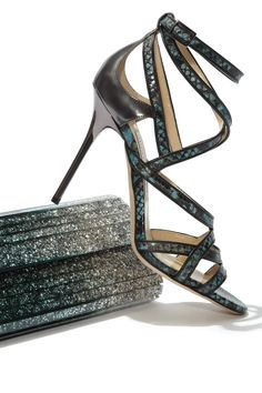 Light up the night with #sparkle wonder from #JimmyChoo. #shoes #bags