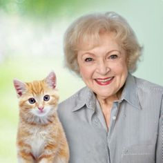Betty White is listed (or ranked) 20 on the list 75+ Celebrities Who Are Cat People