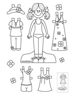 kliknout na ni je jich tam Paper Doll Template, Paper Dolls Printable, Educational Activities For Preschoolers, Art For Kids, Crafts For Kids, Paper Dolls Clothing, American Heritage Girls, Doll Quilt, Felt Patterns