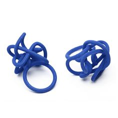 Scara and Bocchio rings 3D Printed by .bijouets | Designed by Maria Jennifer Carew