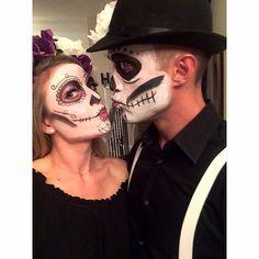 Couples Halloween costume Sugar Skulls ❤️❤️