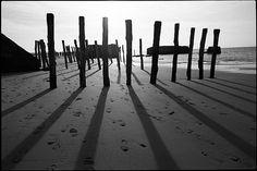 Beach poles Number I  B&W photography  Fine Art par GalerieNoire, $25,00