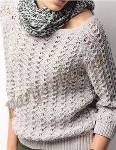 Нежный стильный джемпер - Жакеты,Пуловеры, свитера - Страна рукоделия