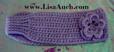 crochet headband- easy crochet pattern-headband-free crochet patterns. I really like this one as it has no button. :-)