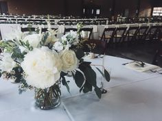 White & Green Wedding Centerpiece @ The Eastern Market :: The Vines Flower & Garden Shop