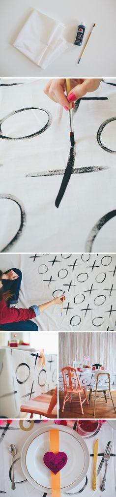 walk in love. DIY Tablecloth using Apple Barrel Paint