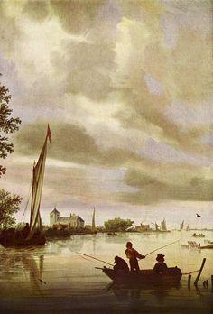 Salomon van Ruysdael - Riviergezicht (1632)
