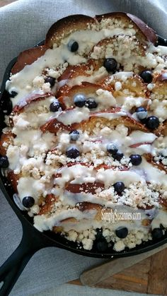 Simply Suzanne's AT HOME: baked lemon & blueberry french toast