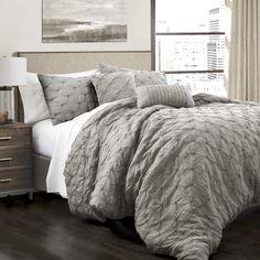 Lark Manor Opperman 5 Piece Comforter Set Size: Full/Queen, Color: Gray