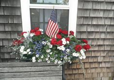 Cape Cod Window Boxes | In the Garden: 21 Delightful Window boxes (and the giveaway winner!)