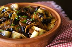 Black Garlic Pappardelle Recipe | Cooking On The Weekends-Interesting, I didn't know what Black Garlic Was.-Pasta Dish