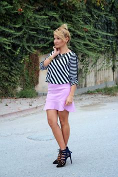 mini skirt , pink skirt , summer outfit