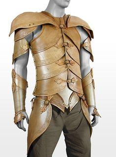 Elfenrüstung aus Leder beige  #larp #mittelalter #medieval #fantasy #leather