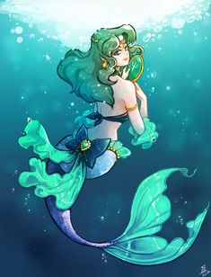 Sailor neptune - Mermaid by oOCherry-chanOo.deviantart.com on @DeviantArt
