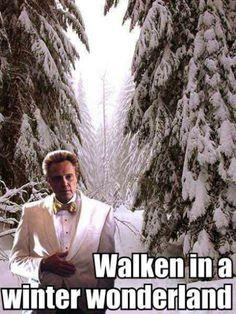 "Walken in a winter wonderland. My favorite Walken bit is a line from a review of Legend of Sleepy Hollow: ""Christopher Walken in redundant scary makeup..."""