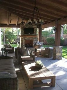 As a homeowner, you have the luxury of creating indoor and outdoor living areas to enjoy. Adding or replacing your patio can improve the beauty and functionality of your yard. However, you need to choose the right patio design ideas to incorporate into. Outdoor Living Rooms, Outside Living, Outside Patio, Outdoor Kitchen Design, Patio Design, Outdoor Kitchens, Garden Design, Outdoor Areas, Backyard Patio