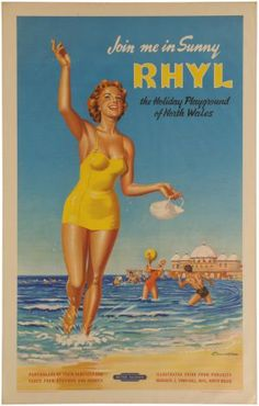 British post war posters and graphics. Posters Uk, Railway Posters, Poster Prints, Poster Poster, British Travel, British Seaside, Learn Welsh, Transport Images, British Holidays