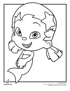 bubble guppies outline bubble coloring pages