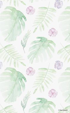 tropical times is a surface design created by frau brandt for a minted fabric challenge Screen Wallpaper, Iphone Wallpaper, Cute Girl Wallpaper, Surface Design, Cute Wallpapers, Pattern Design, Concept Art, Plant Leaves, Tropical