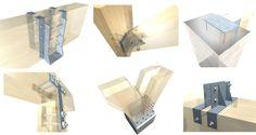 15 conexões metálicas para estruturas de madeira laminada Arauco, Cortesia deof Arauco