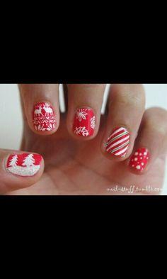Christmas nails! <3