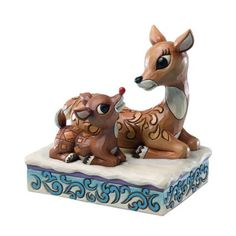 Amazon.com - Rudolph Jim Shore Christmas from Enesco Newborn Rudolph & Mother Figurine 4.72 IN