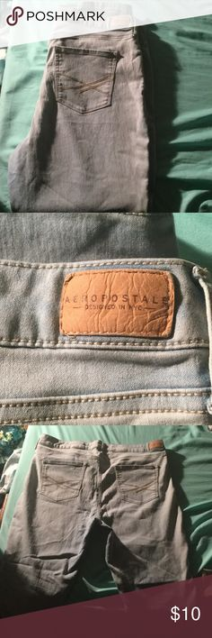 Aeropostale jeans Light wash. Worn once, they don't fit right on me. Aeropostale Jeans Skinny
