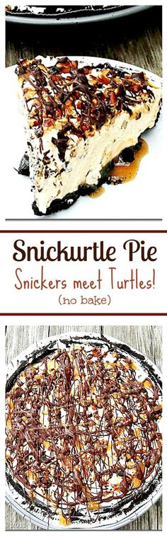Snickurtle Pie - The marriage of two immensely yummy chocolate treats in one pie…