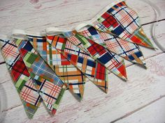 Bunting Banner Madras Bunting Flags Madras Nursery by BixbyBasil