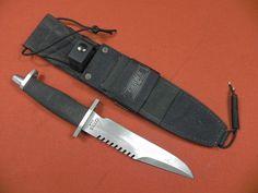 Vintage US Gerber BMF Saw Back Survival Bowie Fighting Knife w Sheath   eBay